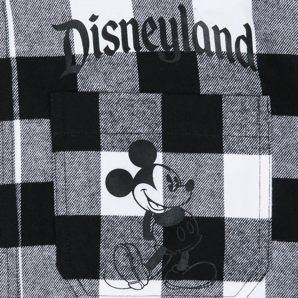 Mickey Mouse Classic Fashion Hoodie for Adults – Disneyland – Black & White Plaid
