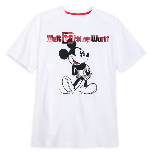 Mickey Mouse Classic T-Shirt for Adults – Walt Disney World – Black & White Plaid