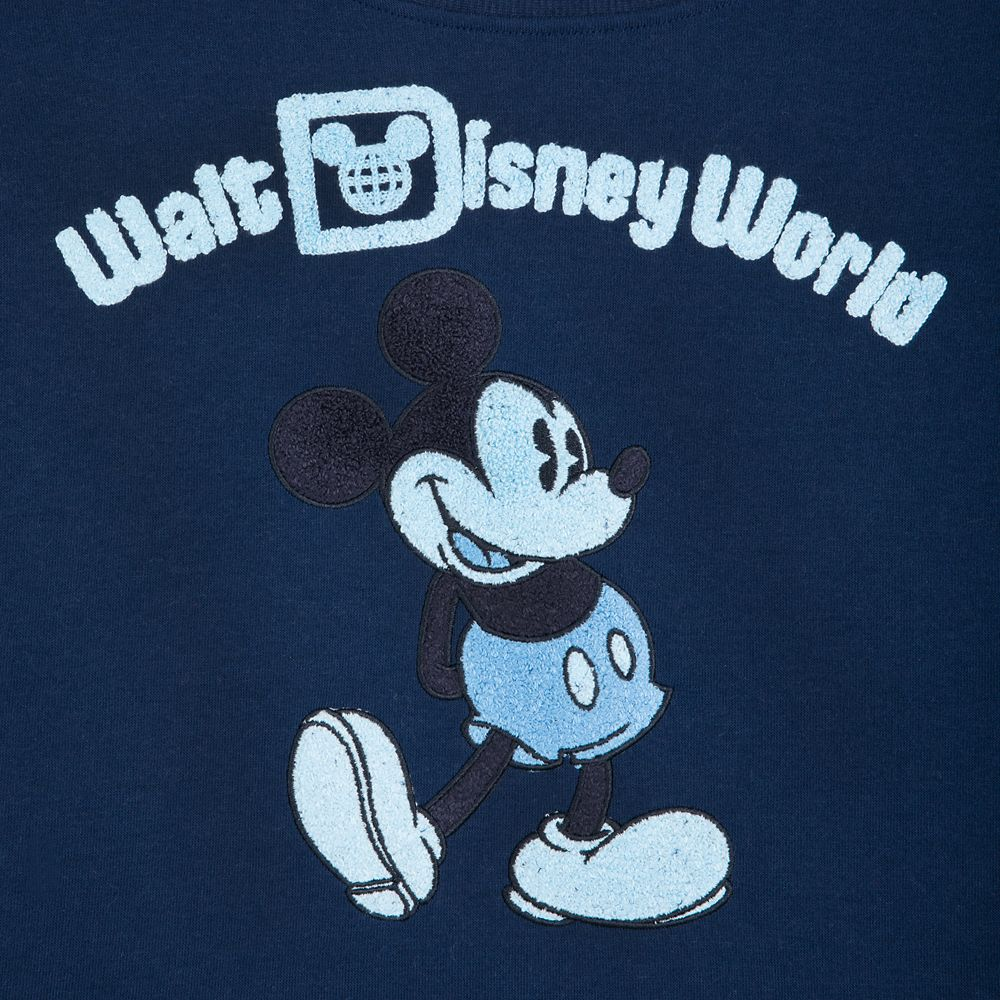 Mickey Mouse Cropped Pullover for Women – Walt Disney World – Blue