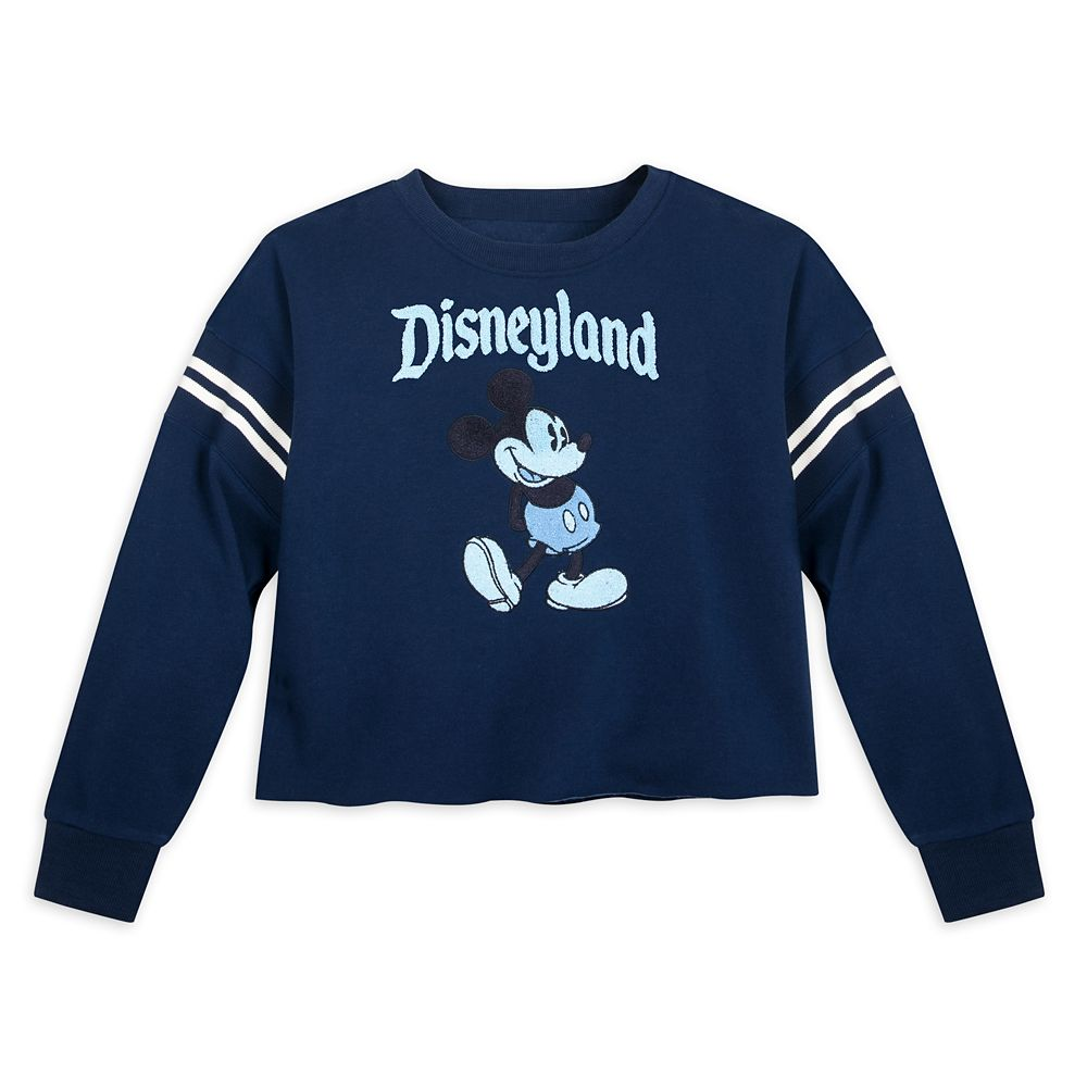 Mickey Mouse Cropped Pullover for Women – Disneyland – Blue
