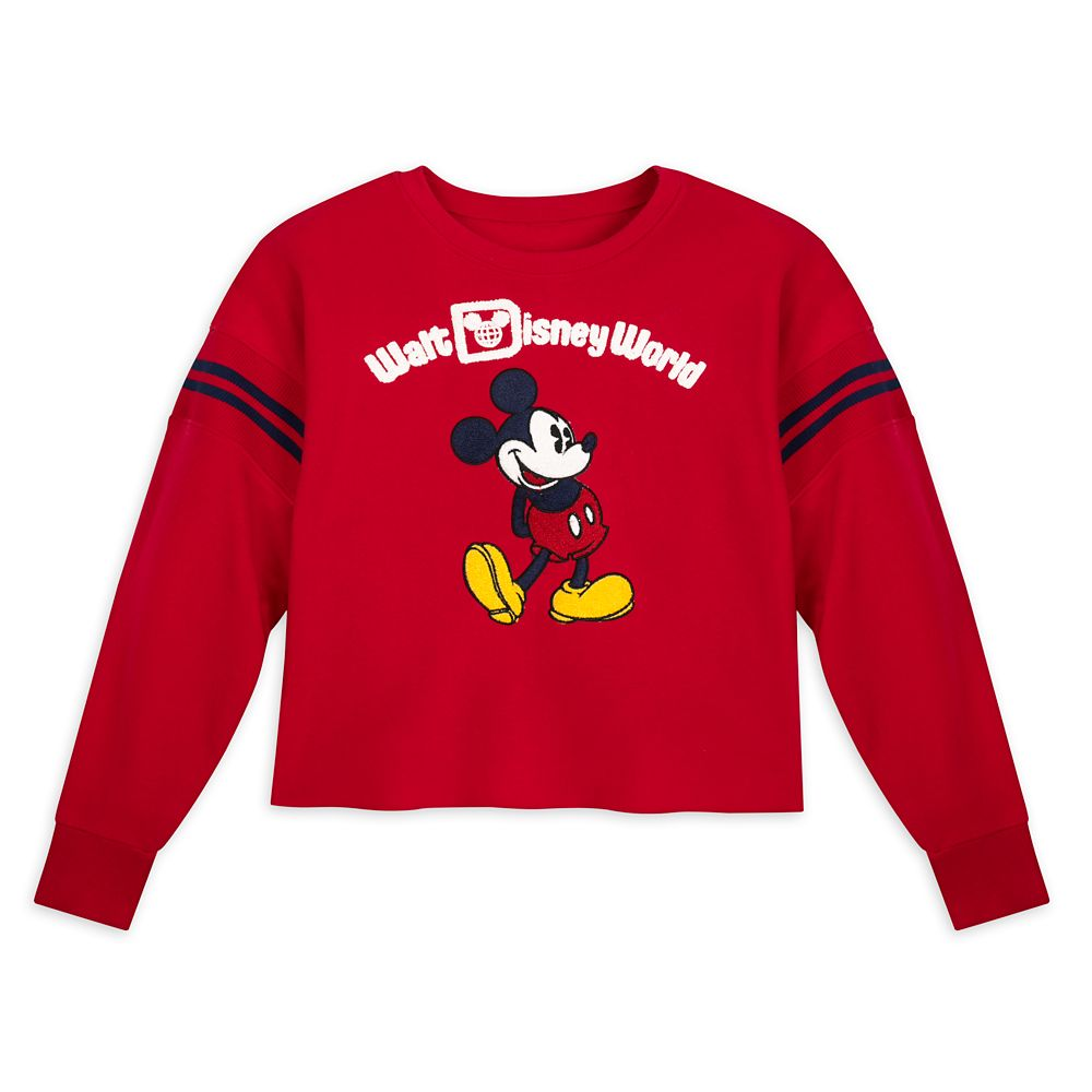 Mickey Mouse Cropped Pullover for Women – Walt Disney World – Red