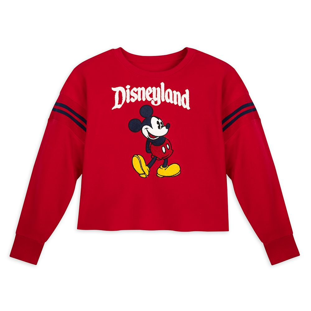 Mickey Mouse Cropped Pullover for Women – Disneyland – Red