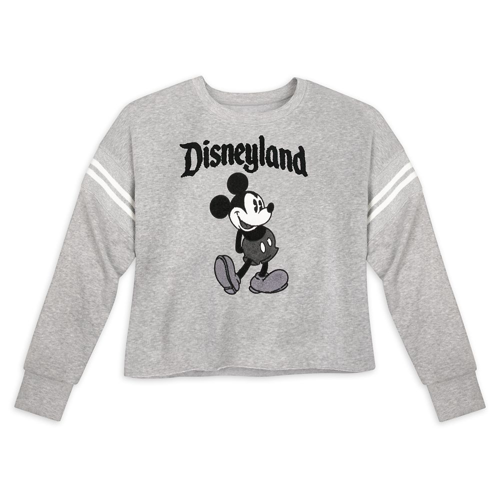 Mickey Mouse Cropped Pullover for Women – Disneyland – Gray