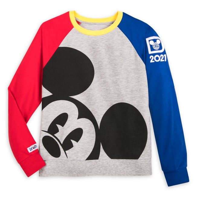 Mickey Mouse Long Sleeve Raglan Pullover for Women – Walt Disney World 2021