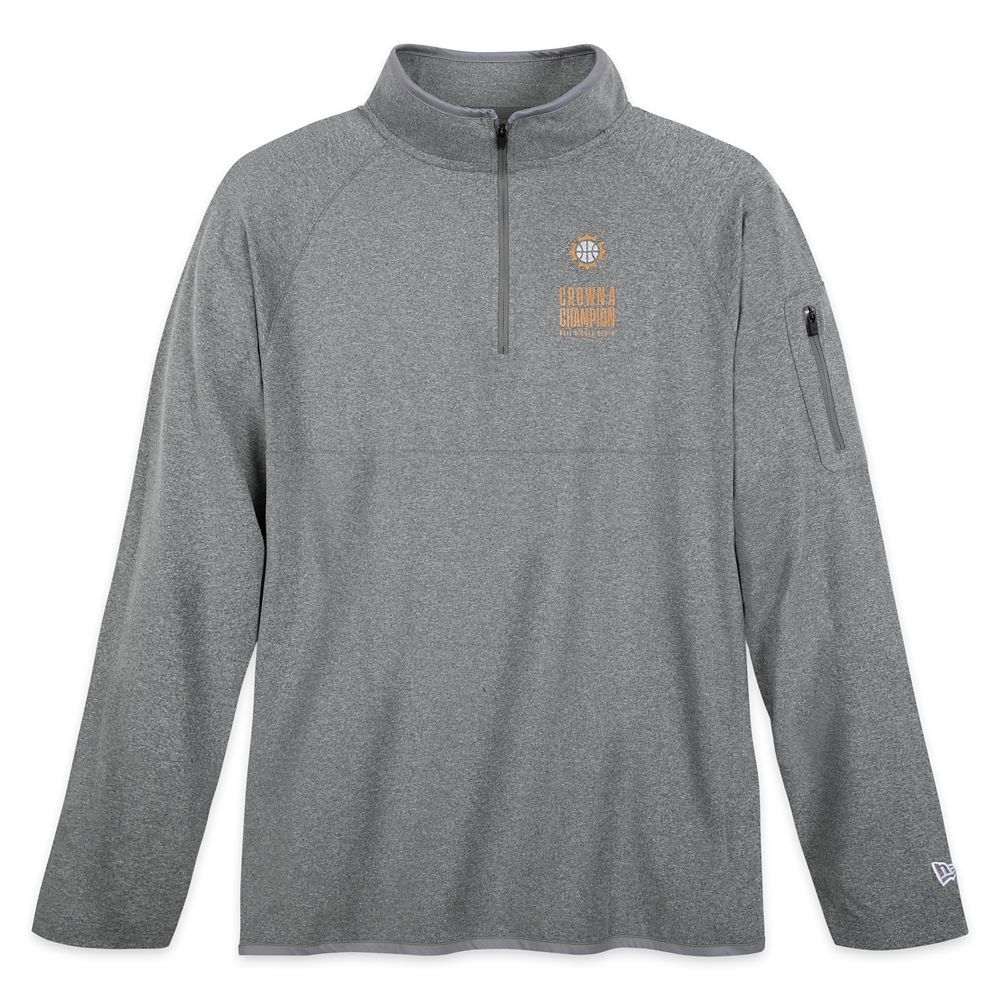 ''Crown a Champion'' Partial Zip Pullover Top for Men by New Era – NBA Experience