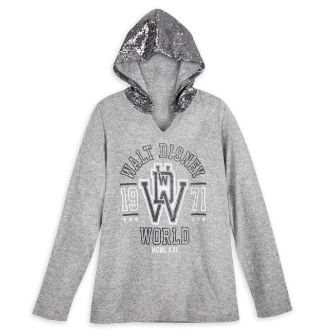Walt Disney World Sequin Hooded Pullover for Women