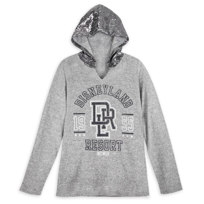Disneyland Sequin Hooded Pullover for Women