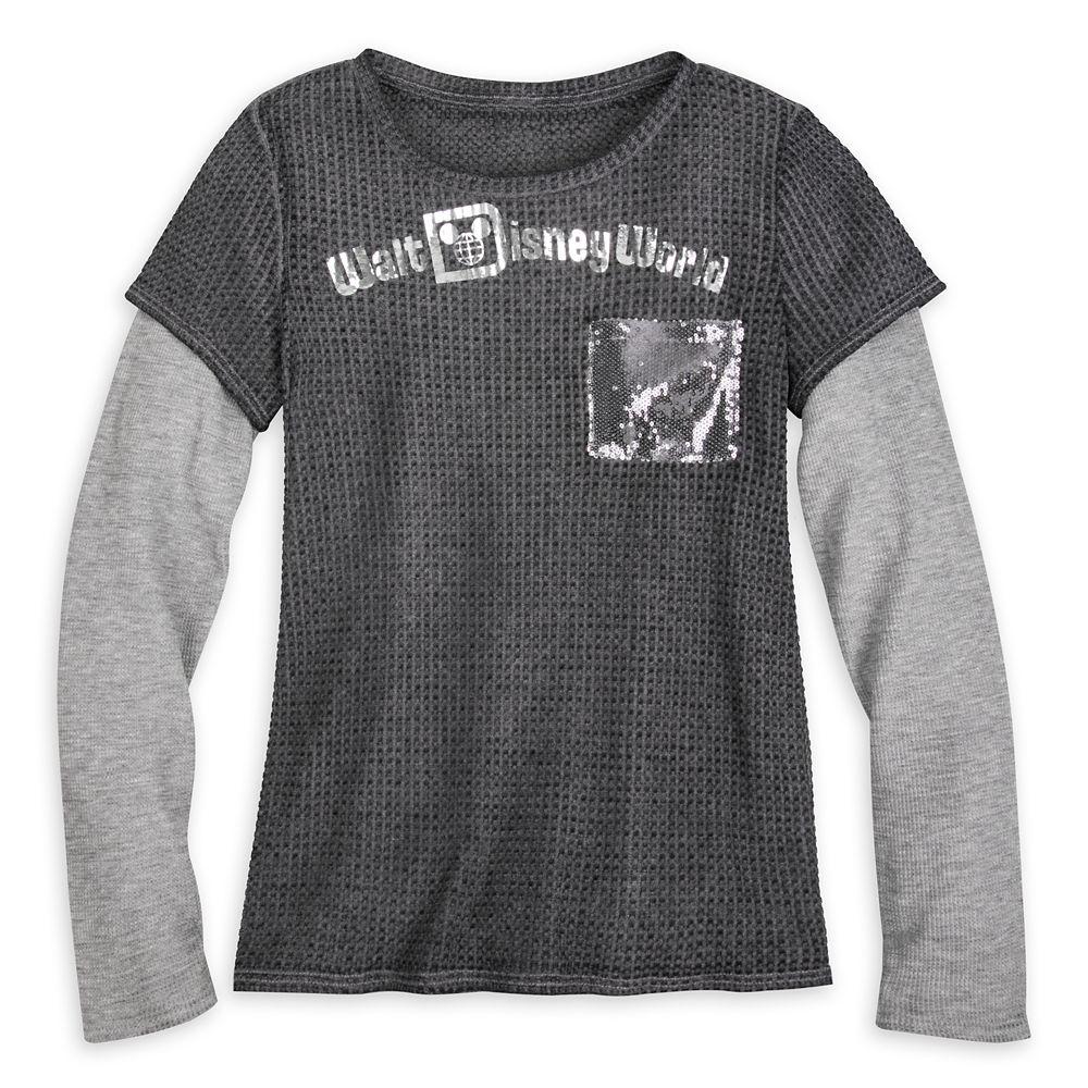 Walt Disney World Sequin Layered T-Shirt for Women