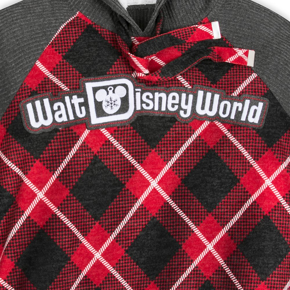 Walt Disney World Red Plaid Hooded Pullover for Women