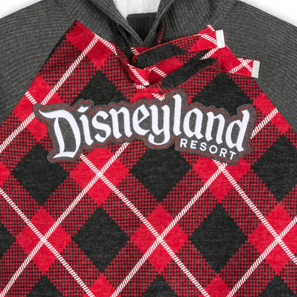 Disneyland Red Plaid Hooded Pullover for Women