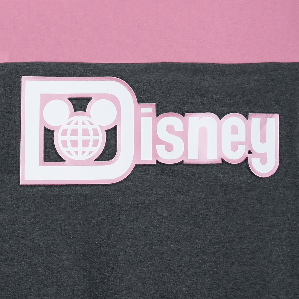Walt Disney World Pink and Gray Pullover Hoodie for Women
