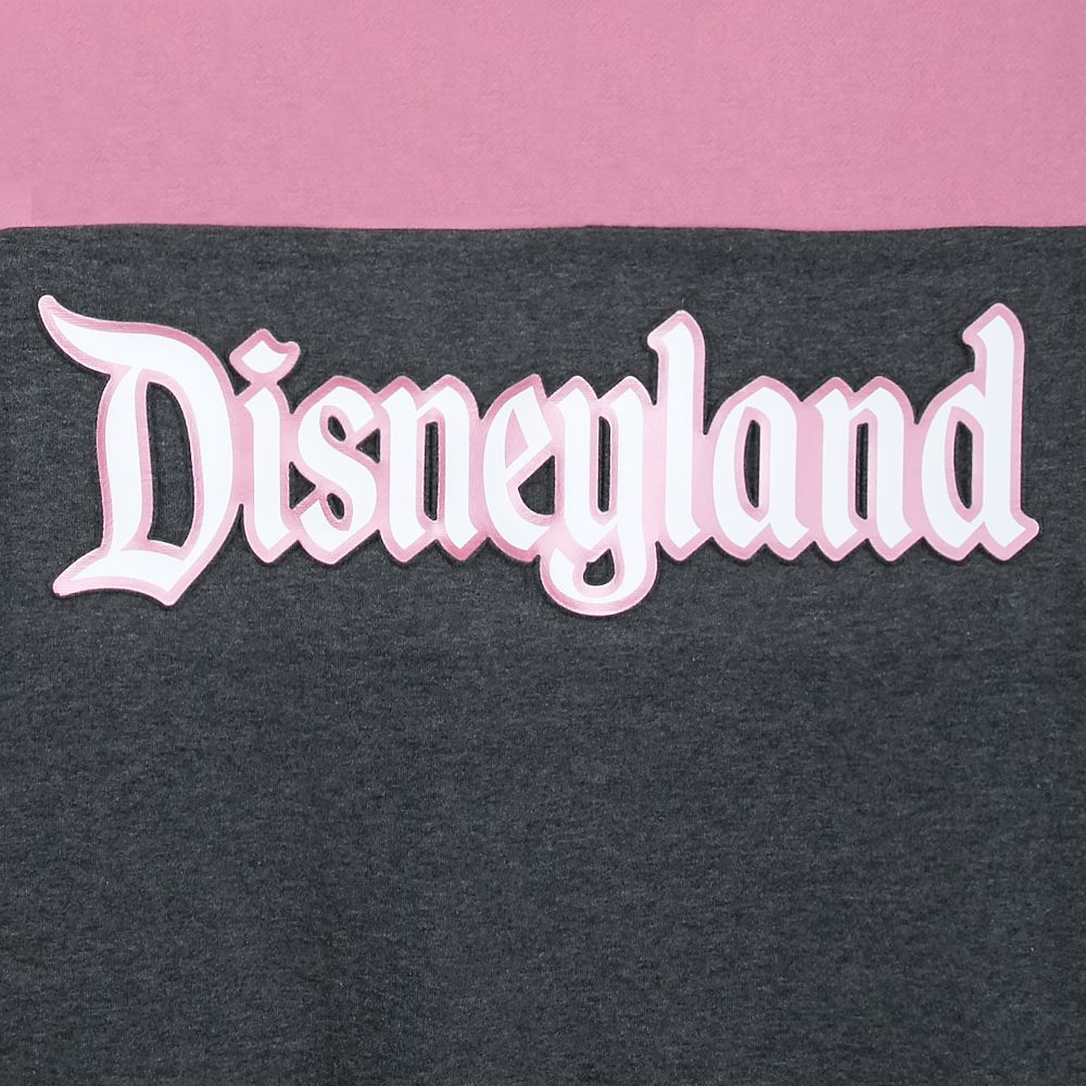 Disneyland Pink and Gray Pullover Hoodie for Women