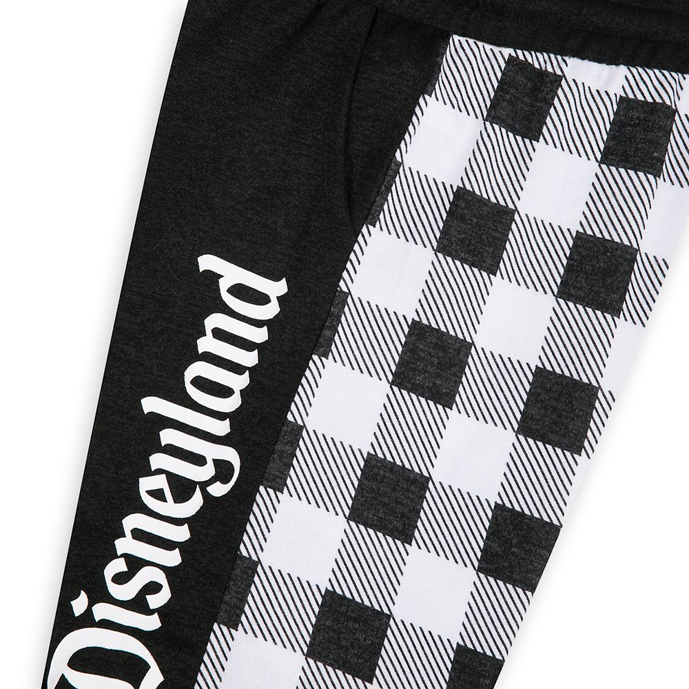 Disneyland Black and White Plaid Joggers for Women