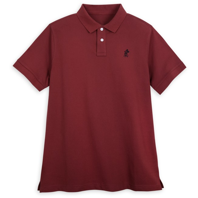 Mickey Mouse Polo Shirt for Adults – Burgundy
