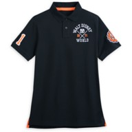 Walt Disney World Collegiate Polo Shirt for Adults – Slim Fit – Black