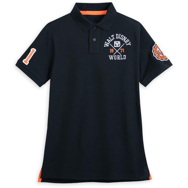 Walt Disney World Collegiate Polo Shirt for Adults – Slim Fit – Black