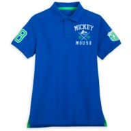 Mickey Mouse Collegiate Polo Shirt for Adults – Slim Fit – Blue