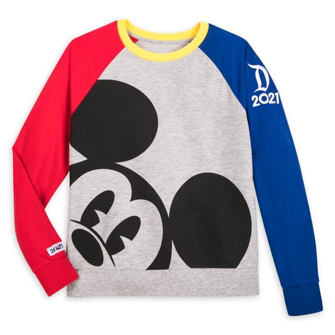 Mickey Mouse Long Sleeve Raglan Pullover for Women – Disneyland 2021