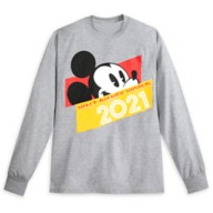 Mickey Mouse Long Sleeve T-Shirt for Adults – Walt Disney World 2021