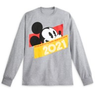 Mickey Mouse Long Sleeve T-Shirt for Adults – Disneyland 2021