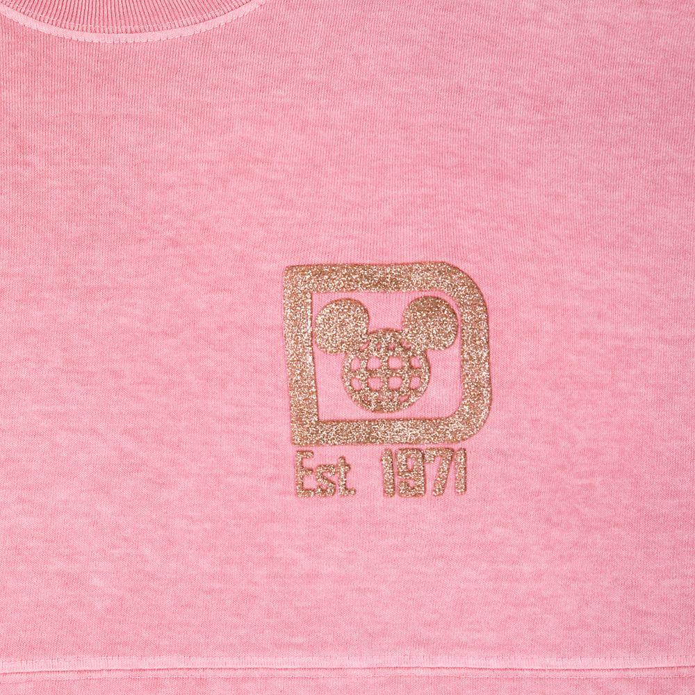 Walt Disney World Briar Rose Gold Glitter Spirit Jersey for Adults