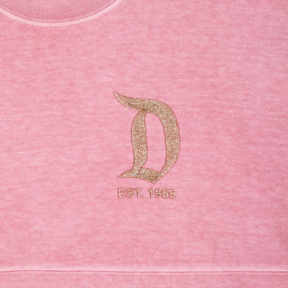 Disneyland Briar Rose Gold Glitter Spirit Jersey for Adults