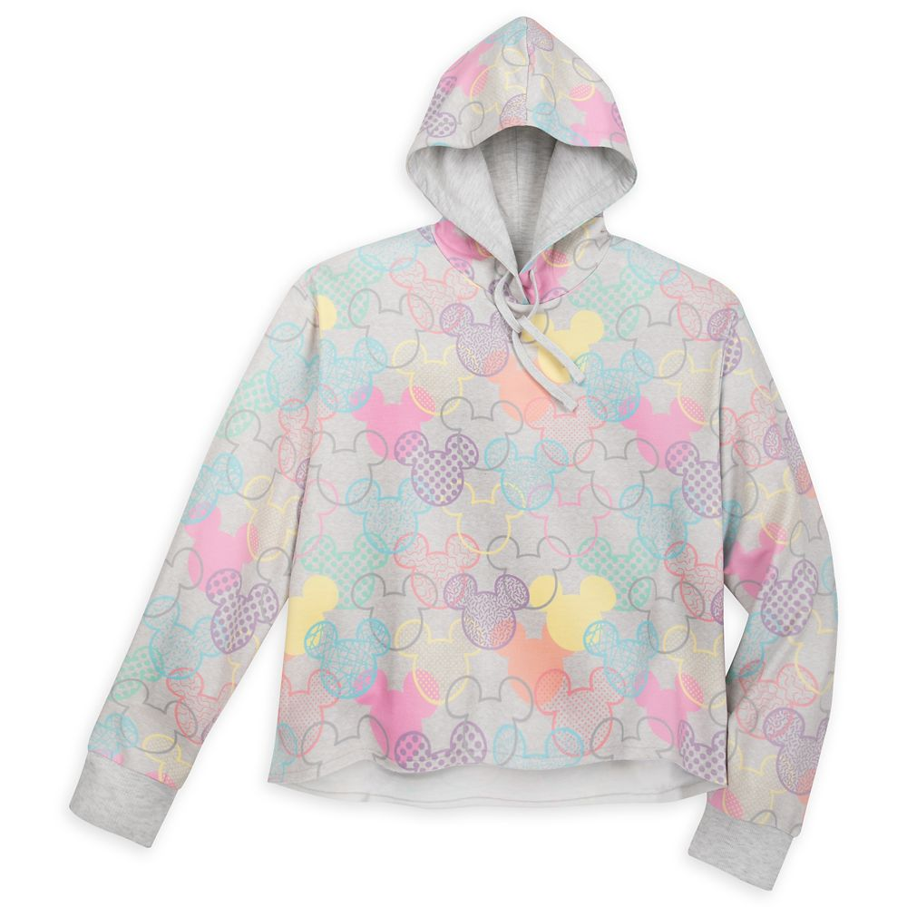 Mickey Mouse Icon Pattern Pullover Hoodie for Women