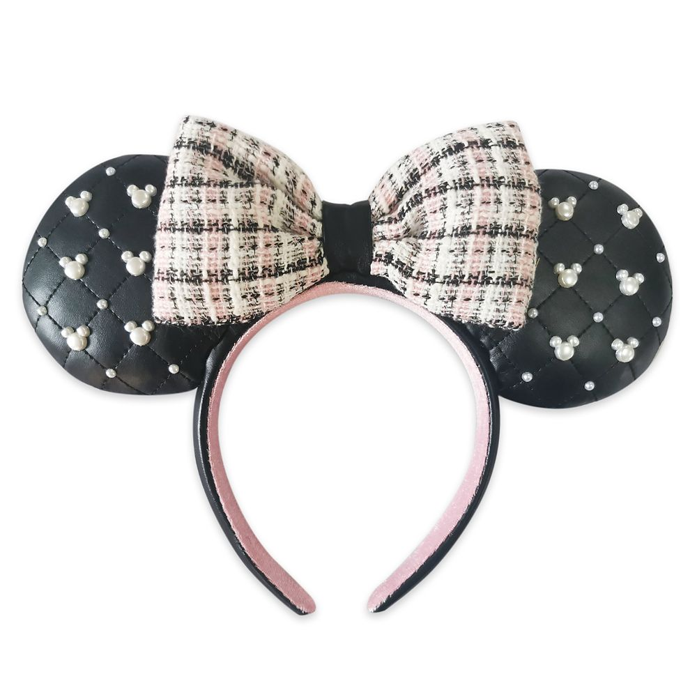 Minnie Mouse Ear Headband with Bow – Tweed & Pearl