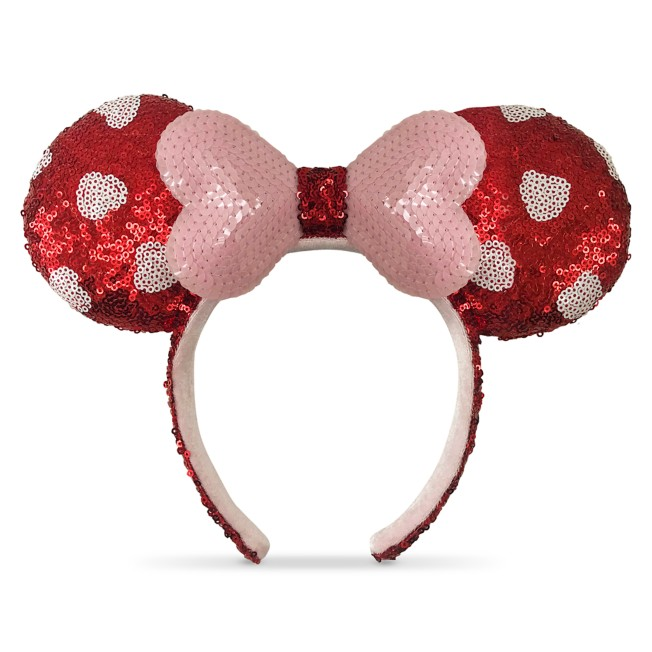 Minnie Mouse Sequined Ear Headband – Valentine's Day