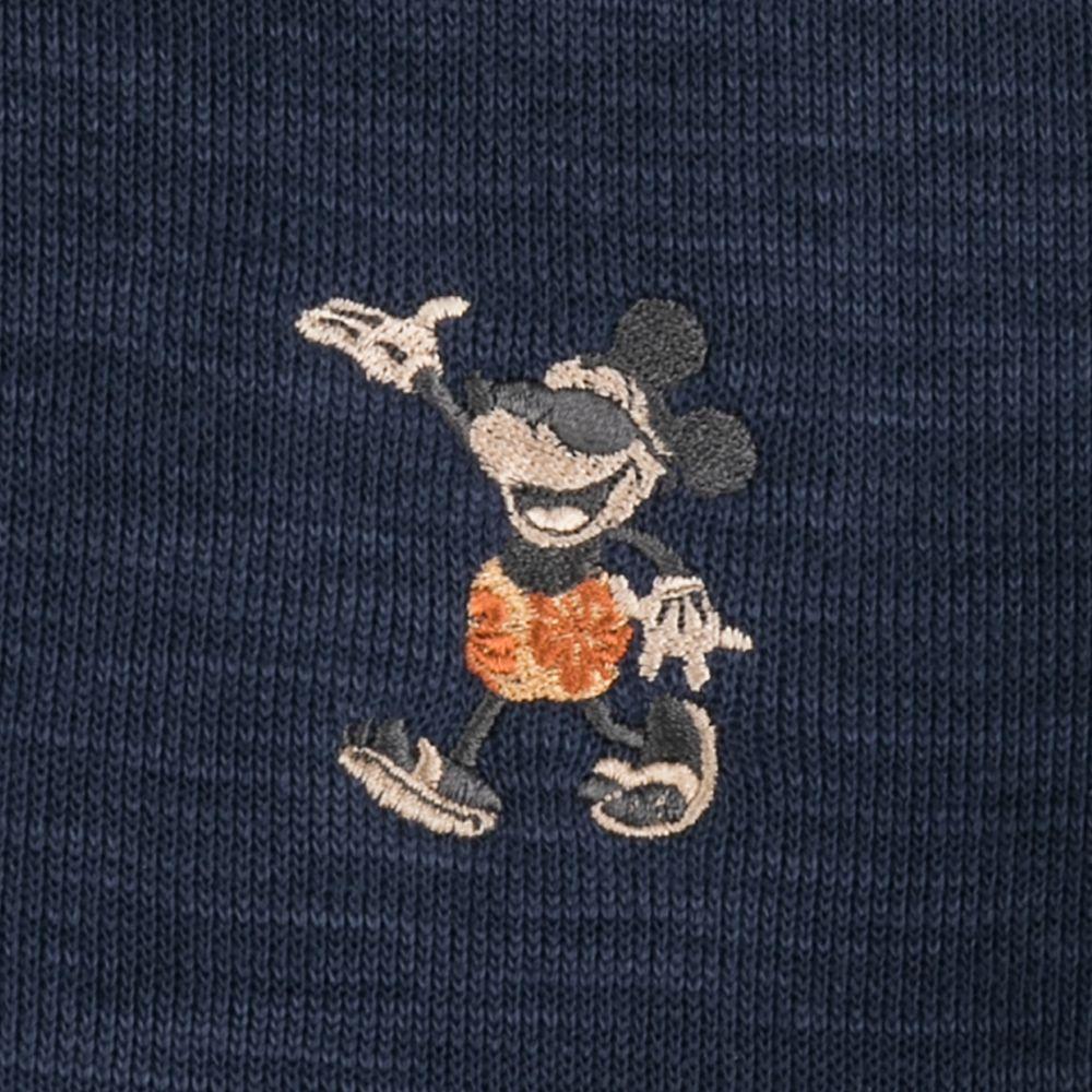 Mickey Mouse Tobago Bay Half-Zip Sweatshirt for Men by Tommy Bahama – Navy