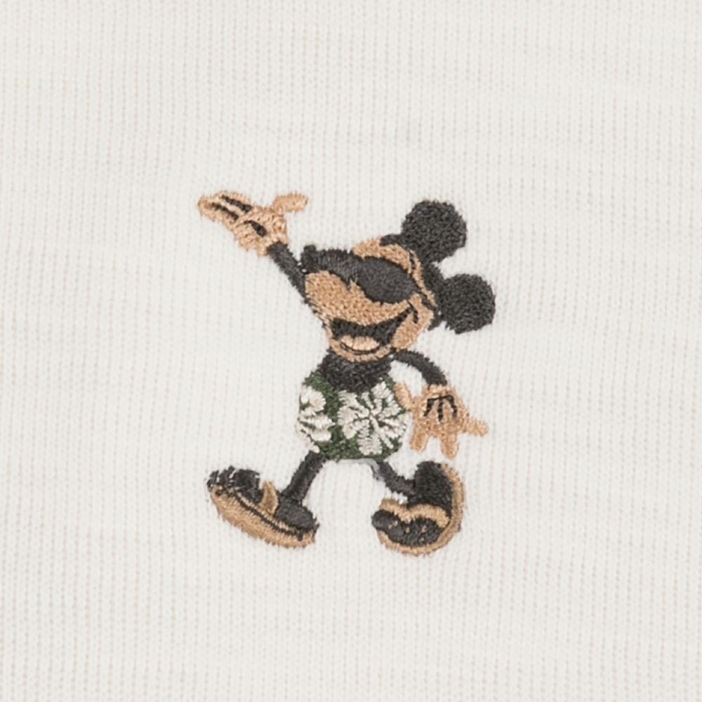 Mickey Mouse Tobago Bay Half-Zip Sweatshirt for Men by Tommy Bahama – Cream