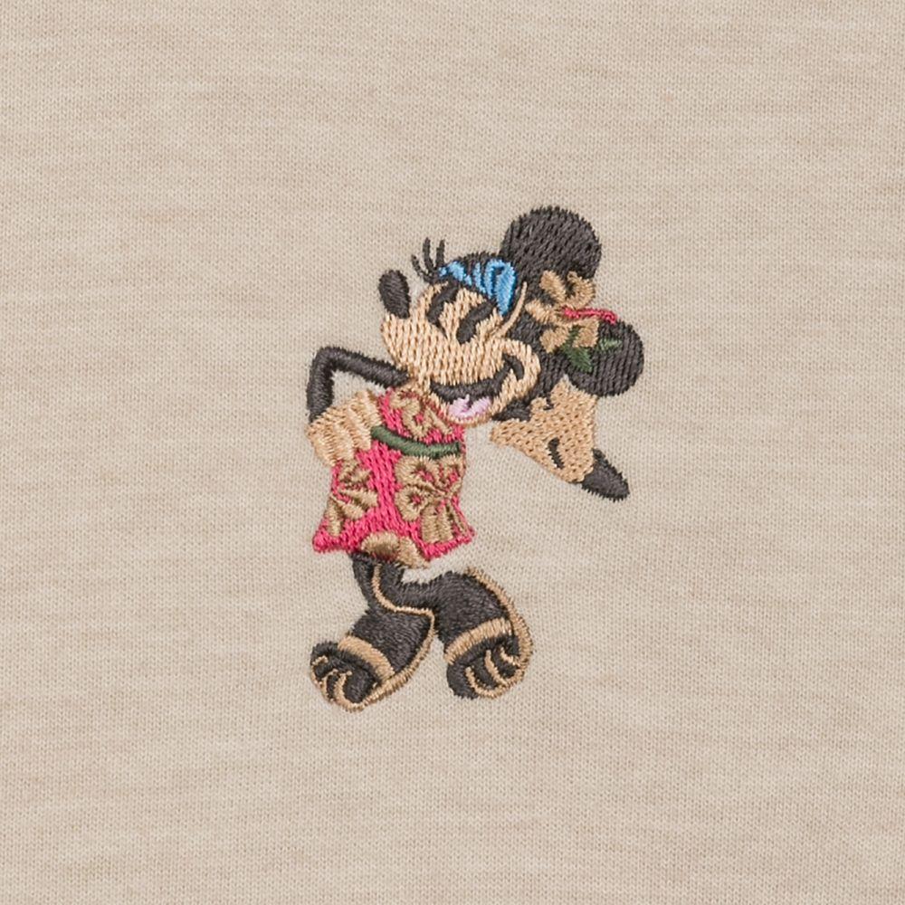 Minnie Mouse Sun Fade Full-Zip Sweatshirt for Women by Tommy Bahama – Khaki Sand