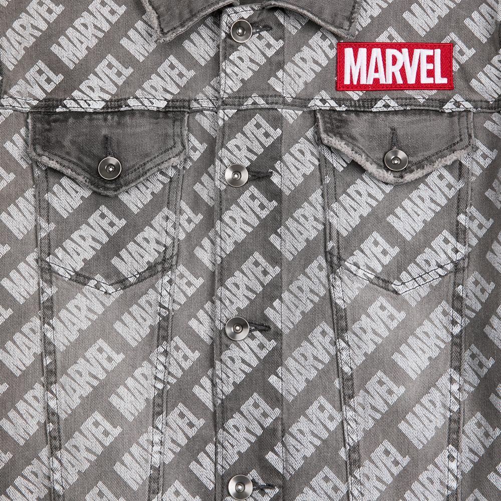 Marvel Logo Denim Jacket for Men by Our Universe