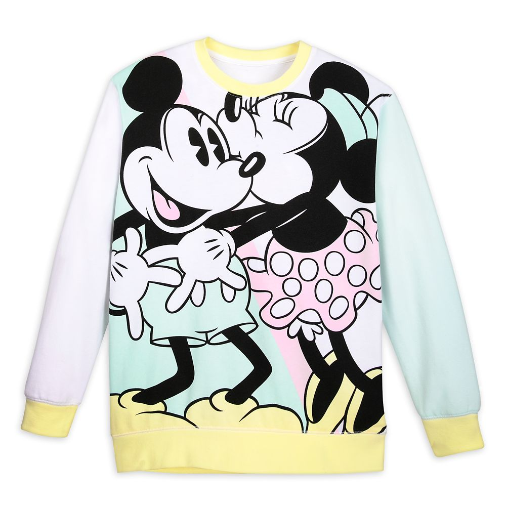 Mickey and Minnie Mouse Pastel Pullover Top for Women