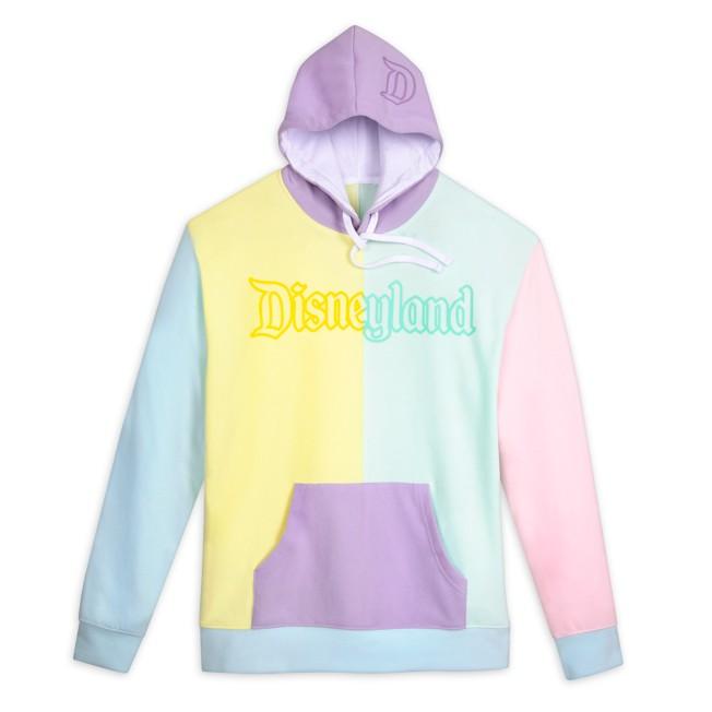 Disneyland Pastel Colorblock Pullover Hoodie for Men