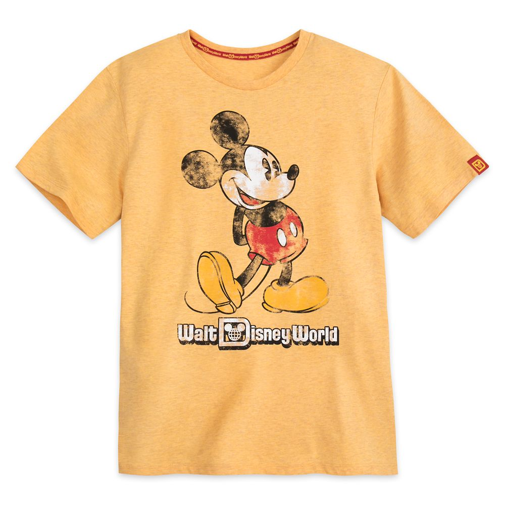 Mickey Mouse Classic Marled T-Shirt for Adults – Walt Disney World – Yellow