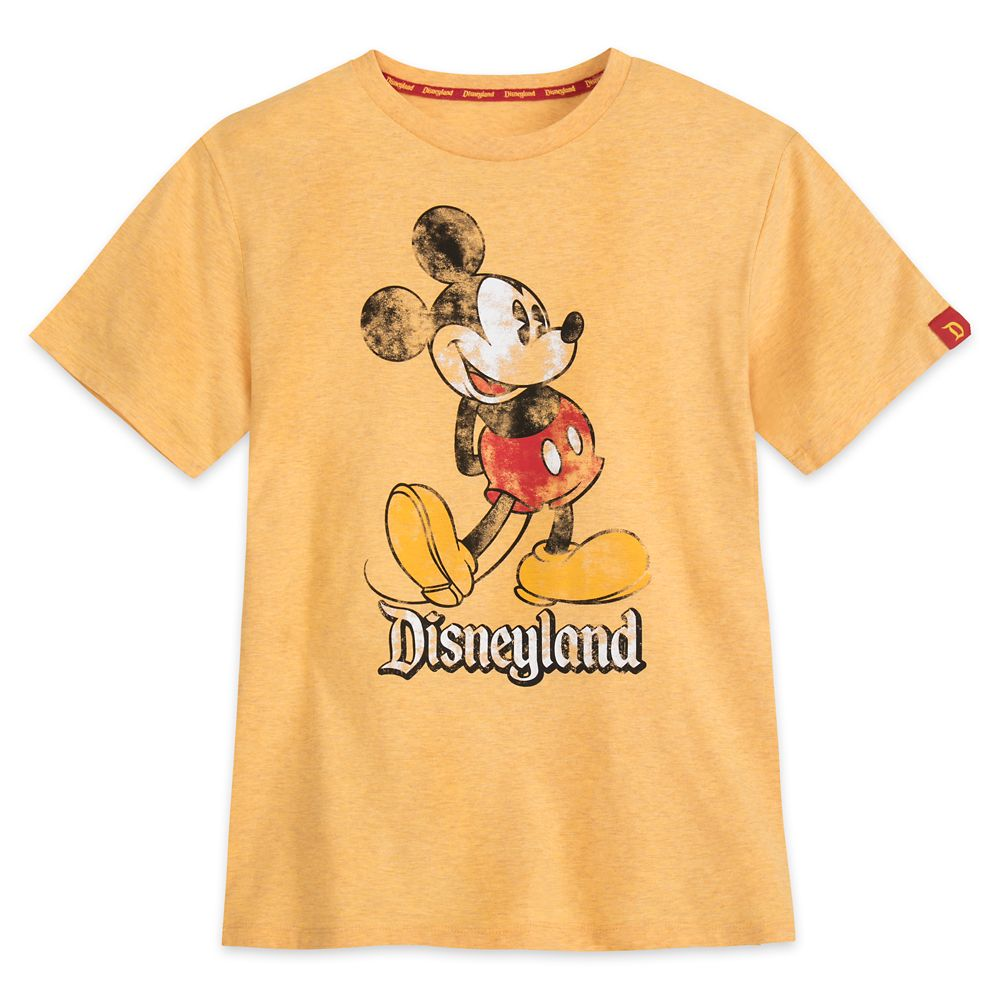 Mickey Mouse Classic Marled T-Shirt for Adults – Disneyland – Yellow