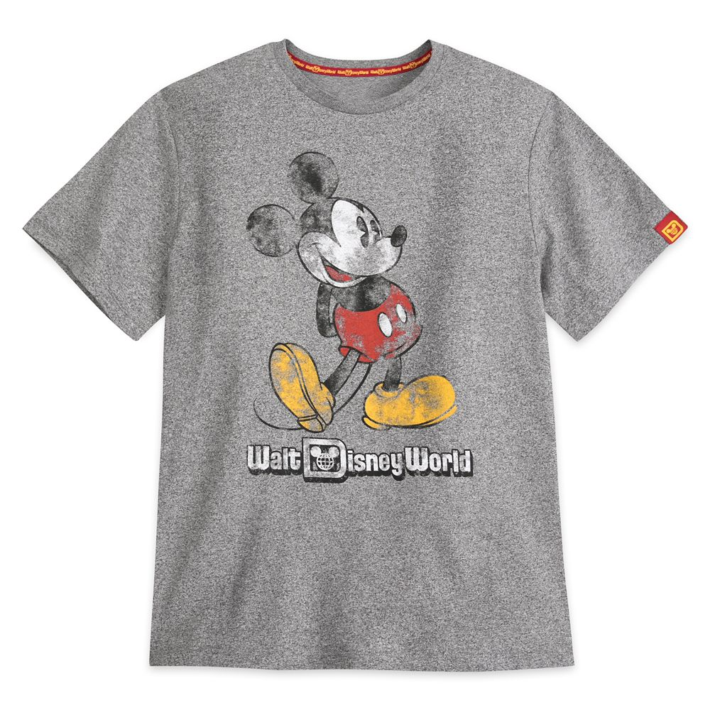Mickey Mouse Classic Marled T-Shirt for Adults – Walt Disney World – Gray