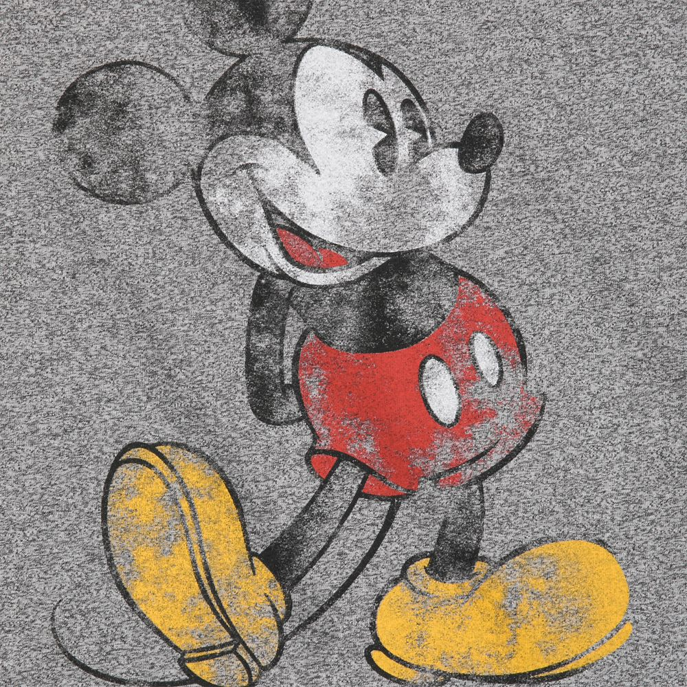 Mickey Mouse Classic Marled T-Shirt for Adults – Disneyland – Gray