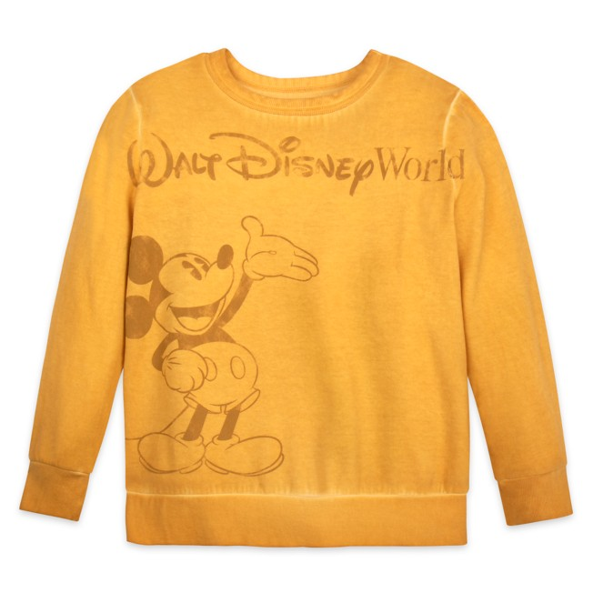 Mickey Mouse Mineral Wash Sweatshirt for Adults – Walt Disney World