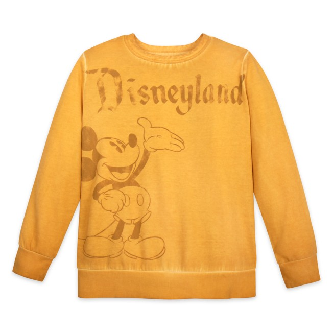 Mickey Mouse Mineral Wash Sweatshirt for Adults – Disneyland