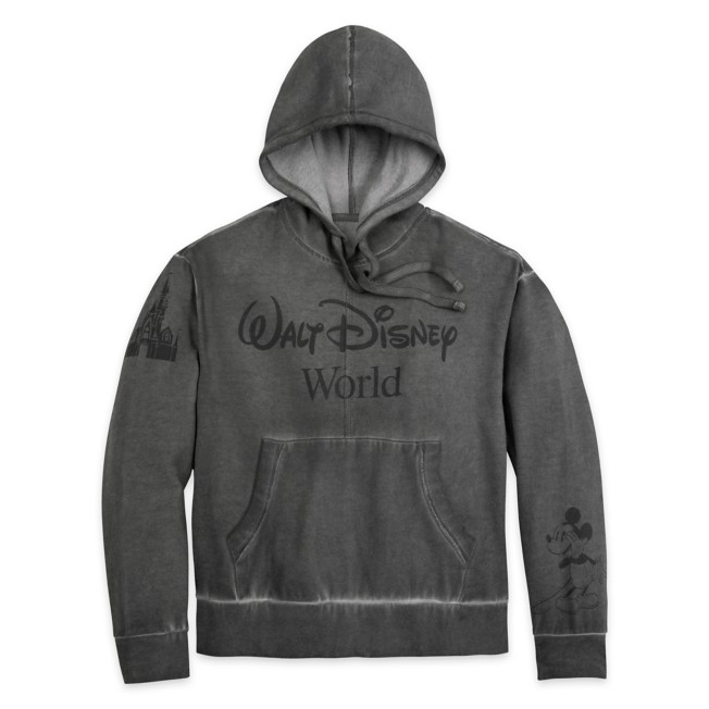 Mickey Mouse Mineral Wash Pullover Hoodie for Adults – Walt Disney World