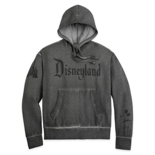 Mickey Mouse Mineral Wash Pullover Hoodie for Adults – Disneyland