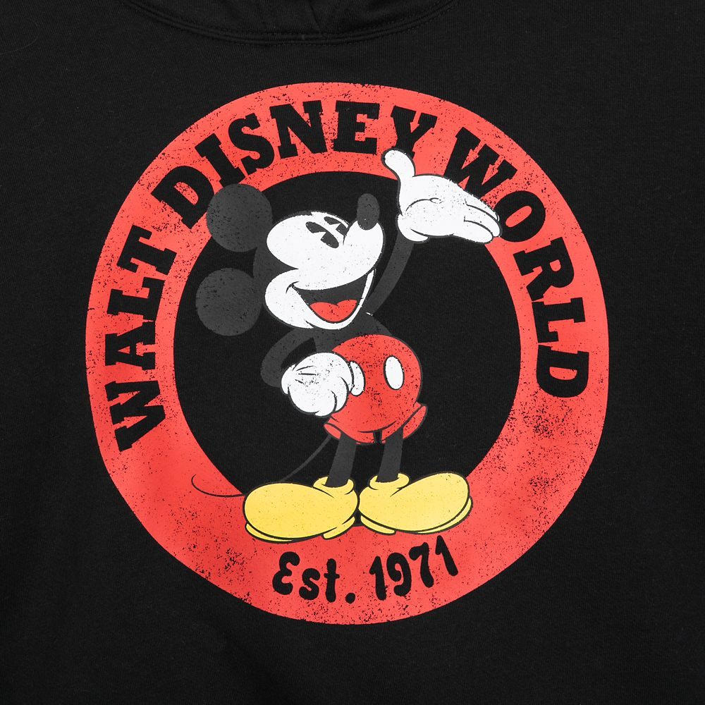 Mickey Mouse Pullover Hoodie for Women – Walt Disney World – Black