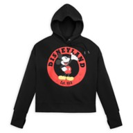 Mickey Mouse Pullover Hoodie for Women – Disneyland – Black