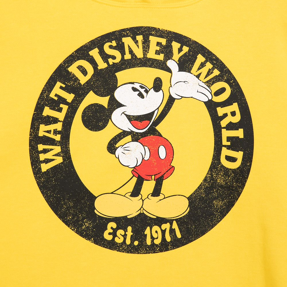Mickey Mouse Pullover Hoodie for Women – Walt Disney World – Yellow