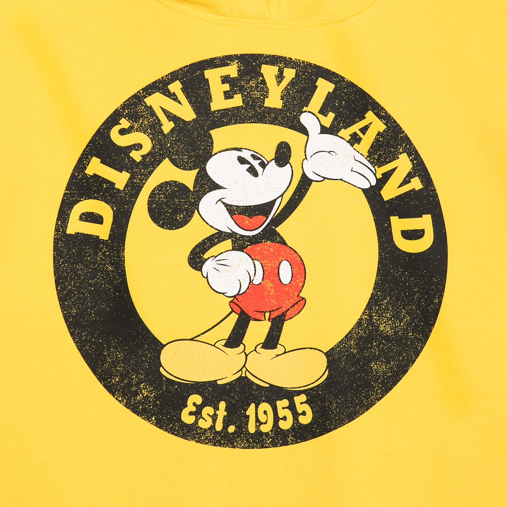 Mickey Mouse Pullover Hoodie for Women – Disneyland – Yellow