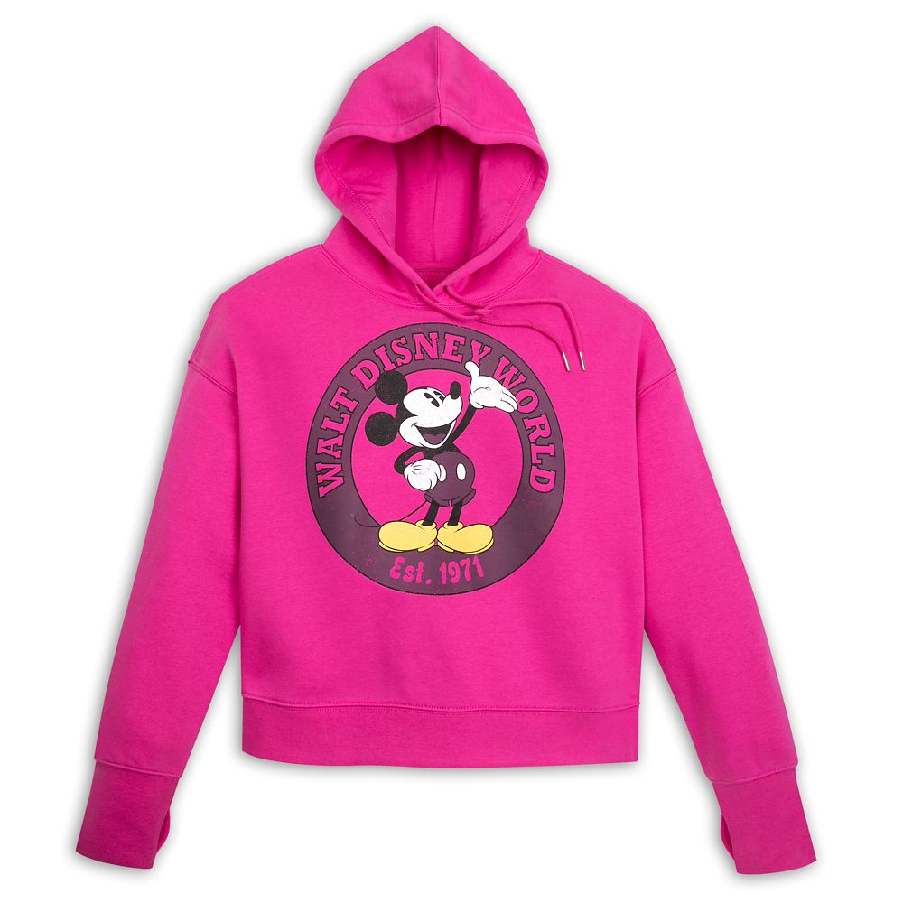 Mickey Mouse Pullover Hoodie for Women – Walt Disney World – Pink