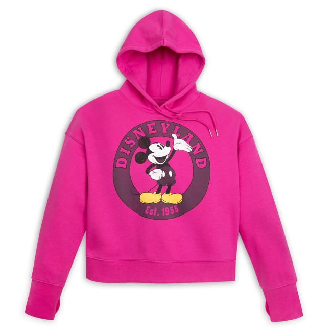 Mickey Mouse Pullover Hoodie for Women – Disneyland – Pink