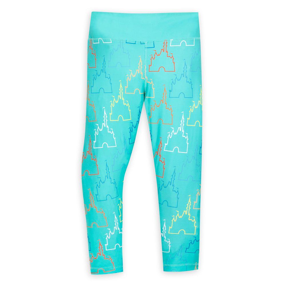 shopdisney.com - Cinderella Castle Icon Leggings for Women  Walt Disney World 39.99 USD